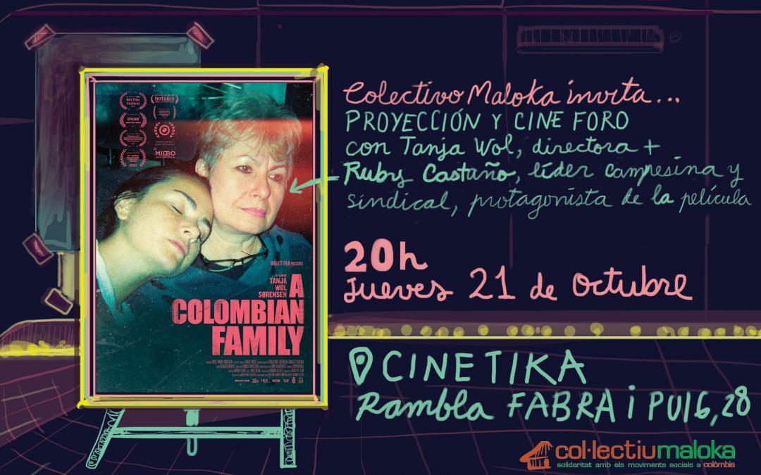 """21/10: CINE-FORUM de """"A COLOMBIAN FAMILY"""""""
